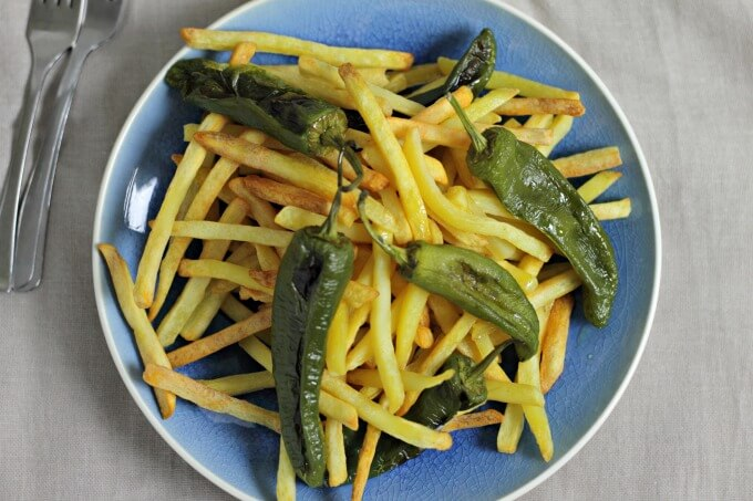 Potatoes and Peppers ~ #TapasTuesday ~ Lydia's Flexitarian Kitchen