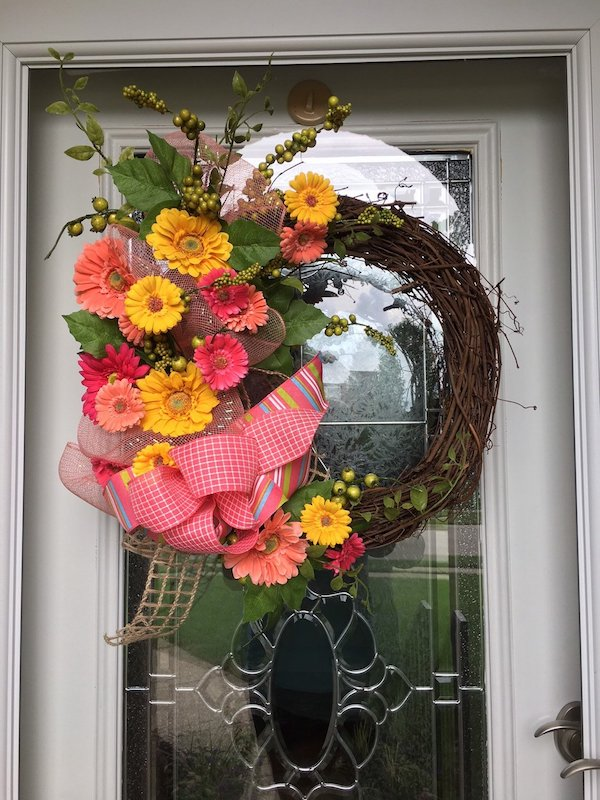Gerber Daisy Wreath