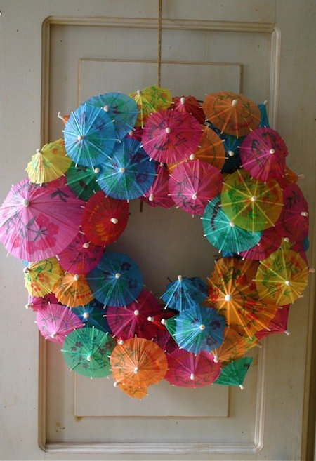 Paper Umbrella Wreath