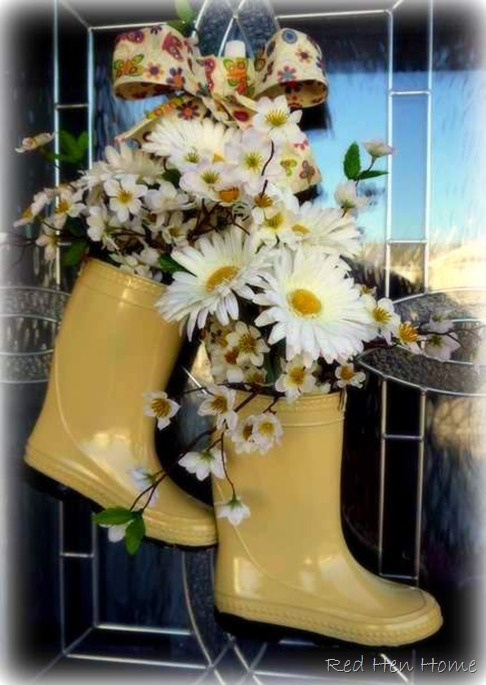 Leave Your Boots at the Door Spring Wreath - so cute!