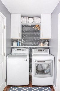 Laundry Room Update with Peel and Stick Tile Backsplash ...