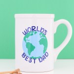 How To Decorate A Mug For Father S Day With A Cricut Lydi Out Loud