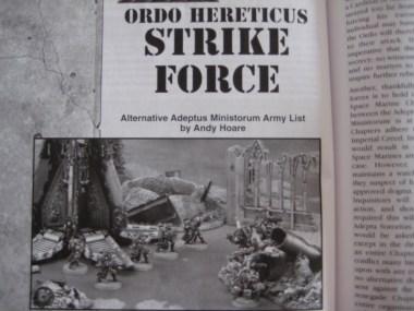 Die Strike Force, eine Armee bestehend Schwestern in Landekapseln oder Seraphim