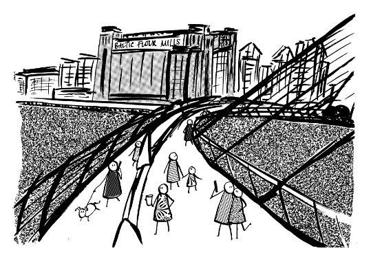Panel: Baltic, Millennium Bridge, River Tyne
