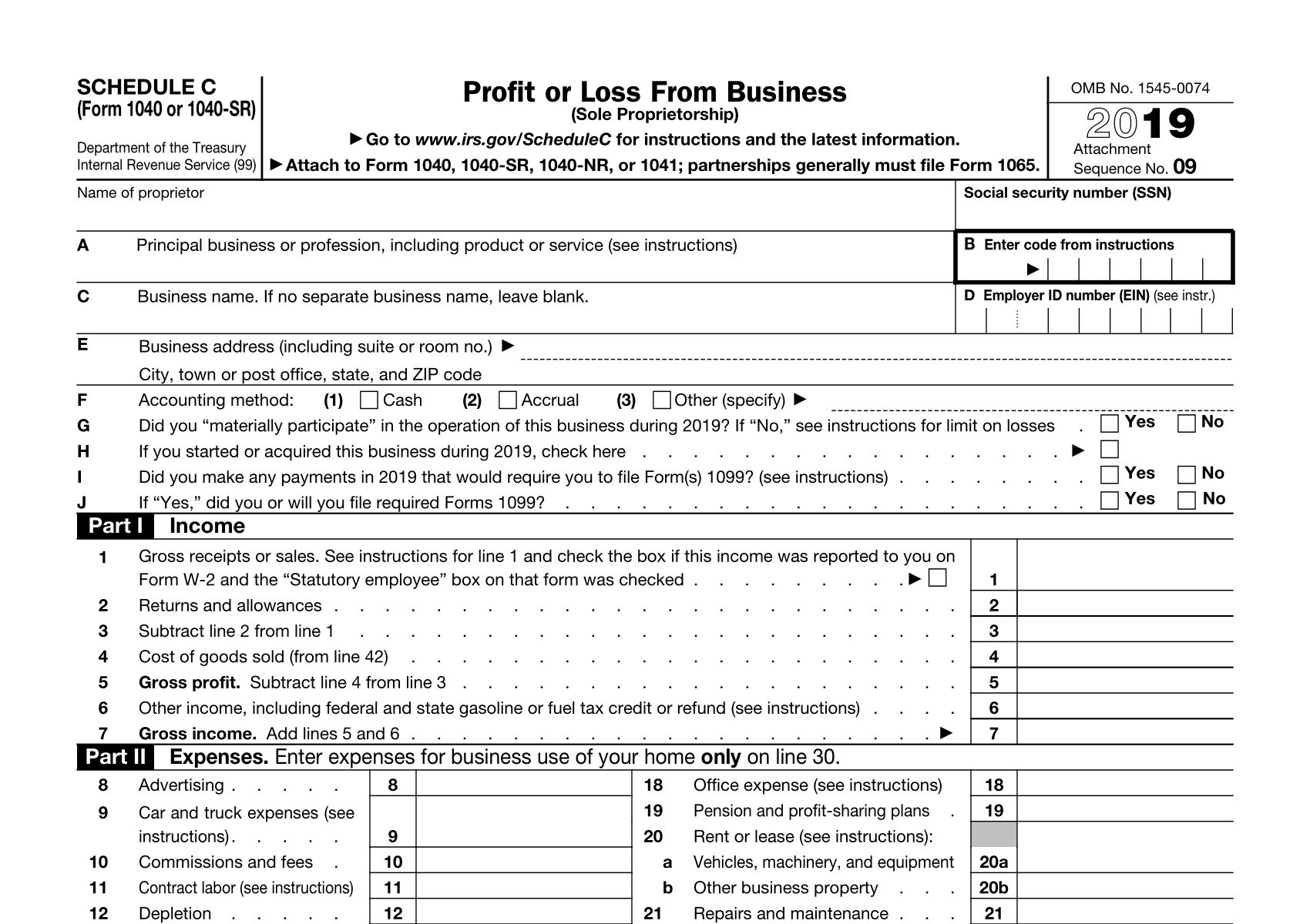 small business tax filings