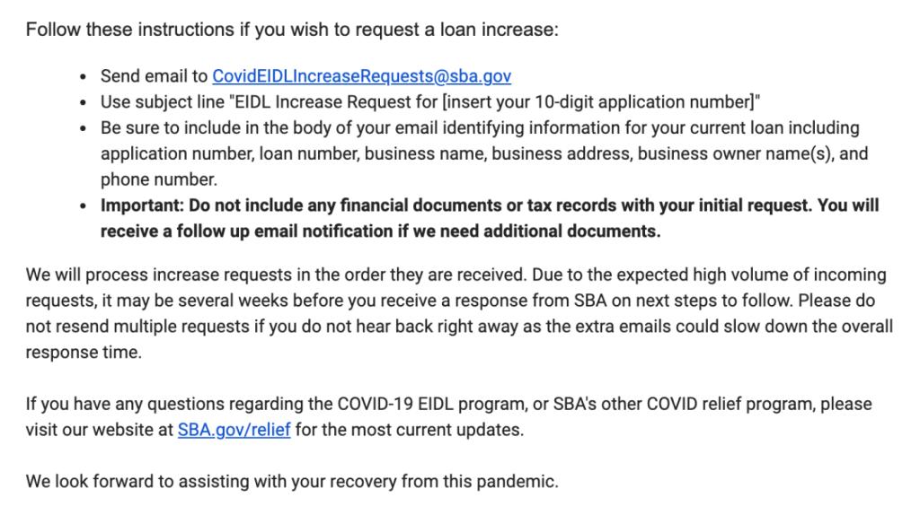 EIDL loan