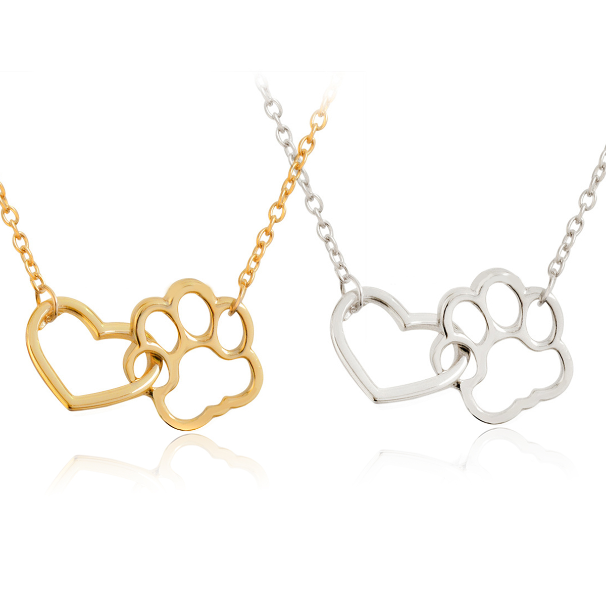 Hollow pet paw footprint necklaces shellhard cute animal dog cat hollow pet paw footprint necklaces mozeypictures Gallery