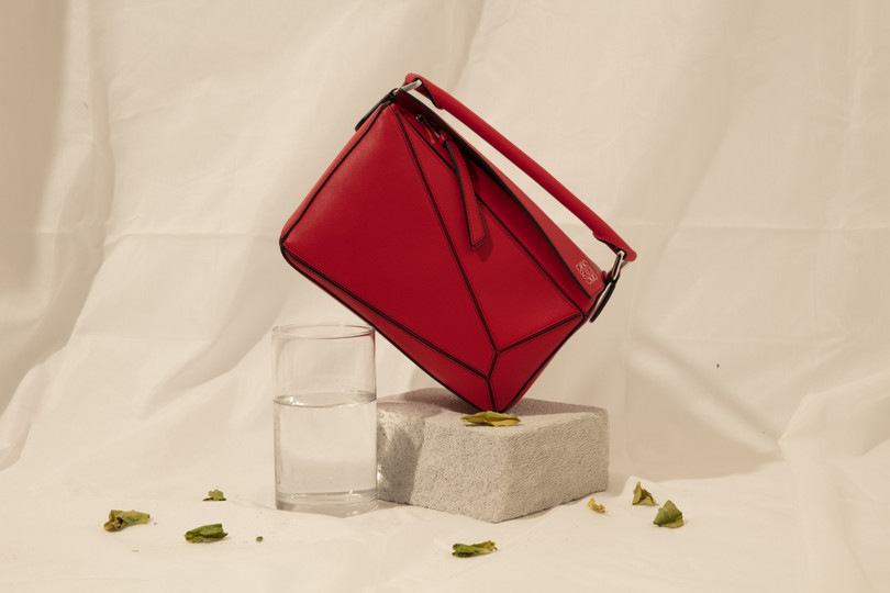 red Loewe - puzzle bag - LYFSTYL