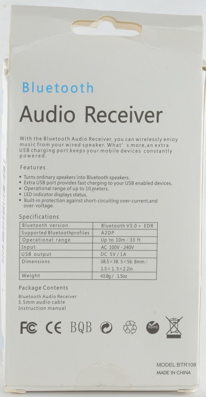 Test of Bluetooth Audio Receiver