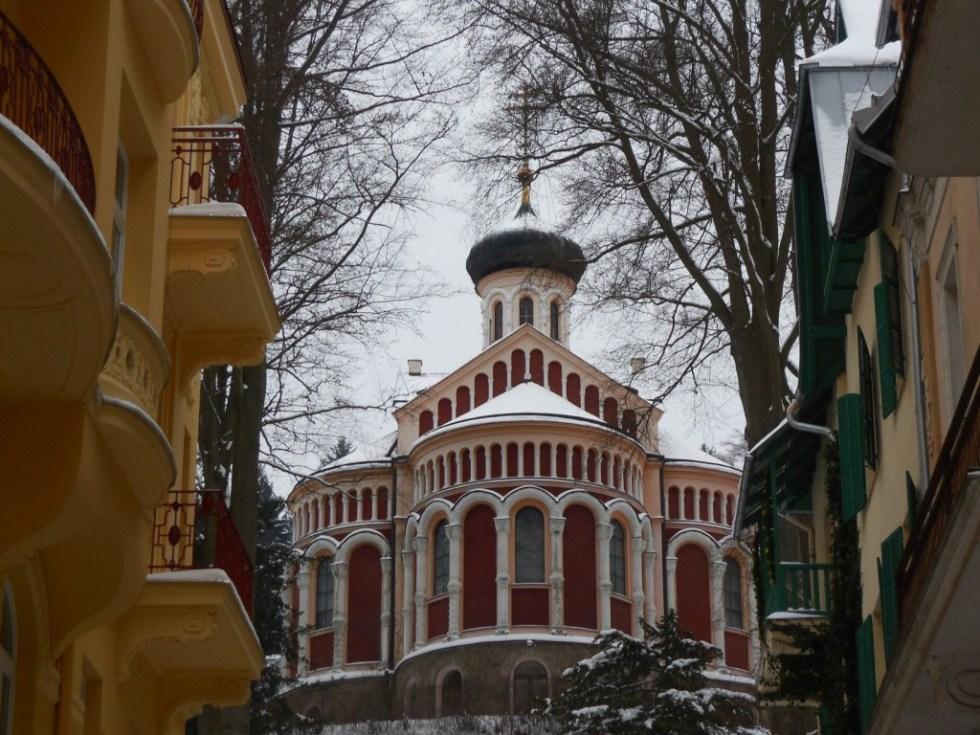 Στην παγωμένη (-10) λουτρόπολη Marianske Lazne (Ρωσική Εκκλησία)