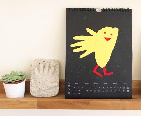 hjemmelavet vægkalender