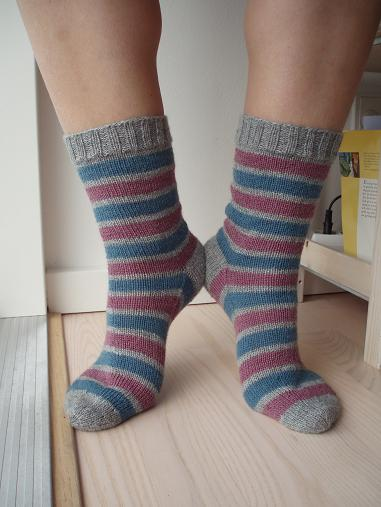Heel to heel and stripe to stripe