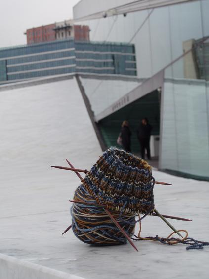 the travelling sock at the Oslo opera