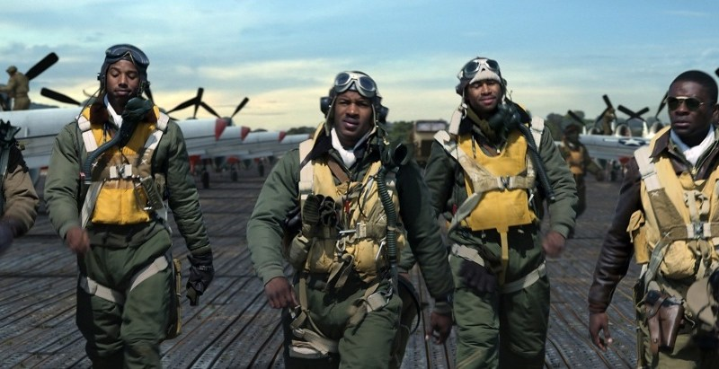red tails review - leslie odom jr, michael b jordan, nate parker, kevin phillips and david oyelowo