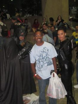 baltimore comic con 2012 - With Batman and Catwoman