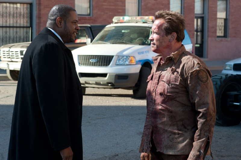 the last stand review -forest-whittaker-and-arnold-schwarzenegger-in-the-last-stand