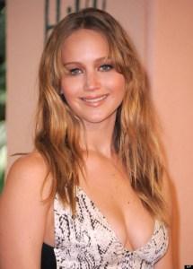Jennifer Lawrence in silver dress