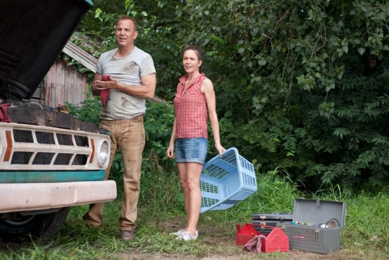 Clay Enos/Warner Bros. Pictures Jonathan (Kevin Costner) and Martha (Diane Lane) Kent.