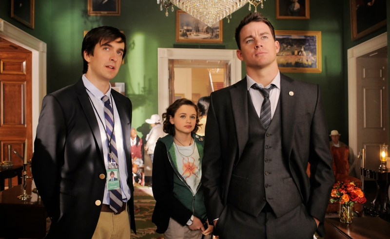 Reiner Bajo/Columbia Pictures Donnie (Nic Wright), Emily (Joey King) and John Cale (Channing Tatum) on a tour.