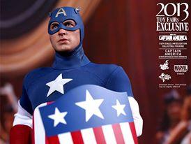 Hot Toys Captain America Star Spangled Man mask raised