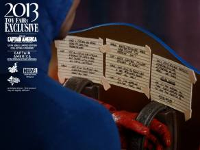 Hot Toys Captain America Star Spangled Man shield notes