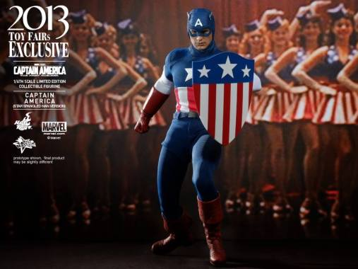 Hot Toys Captain America Star Spangled Man with girls