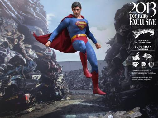 Hot Toys Superman III Evil Superman flying