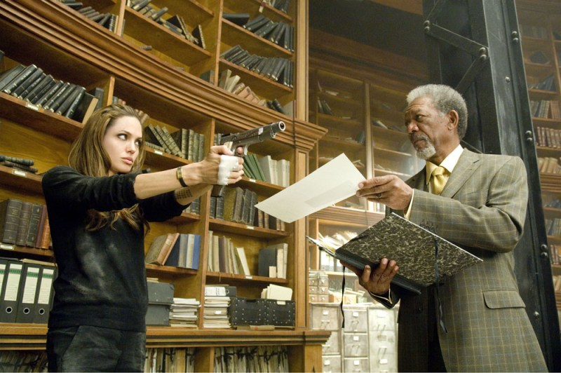 Wanted - Angelina Jolie and Morgan Freeman