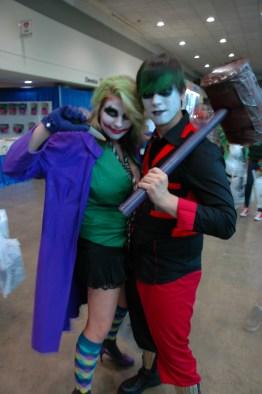 Baltimore Comic Con 2013 - Joker and Harley Quinn gender reverse