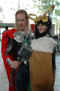 Baltimore Comic Con 2013 - Loki and Thor
