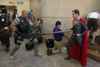 Baltimore Comic Con 2013 - Roadblock vs Man of Steel