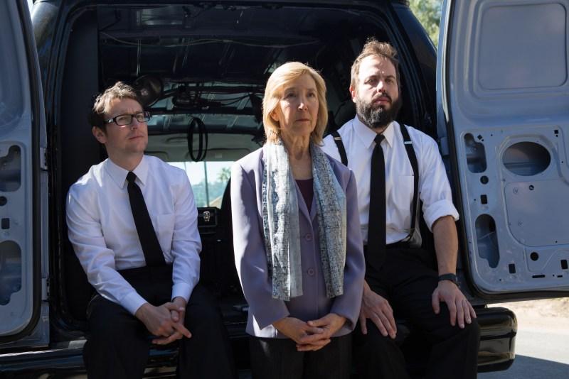Matt Kennedy/Film District Specs (Leigh Whannell), Elise (Lin Shaye) and Tucker (Angus Sampson).