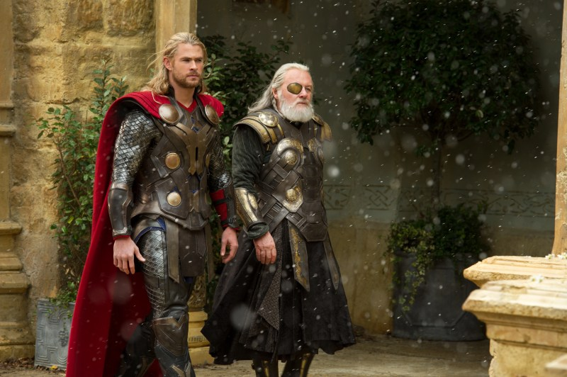 Thor The Dark World - Thor Chris Hemsworth and Odin Anthony Hopkins