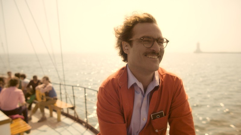 "Courtesy Warner Bros. Pictures Joaquin Phoenix as Theodore in the romantic drama ""HER."""