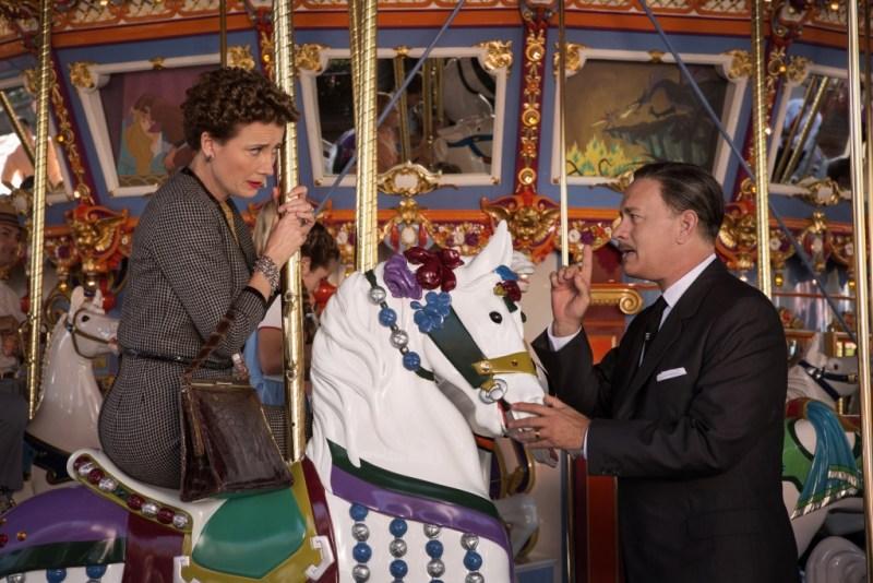 "François Duhamel/Disney Enterprises, Inc. P.L. Travers (Emma Thompson) and Walt Disney (Tom Hanks) in Disney's ""Saving Mr. Banks""."