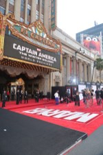 """Alberto E. Rodriguez/Getty Images A general view of the atmosphere during Marvel's """"Captain America: The Winter Soldier"""" premiere at the El Capitan Theatre."""