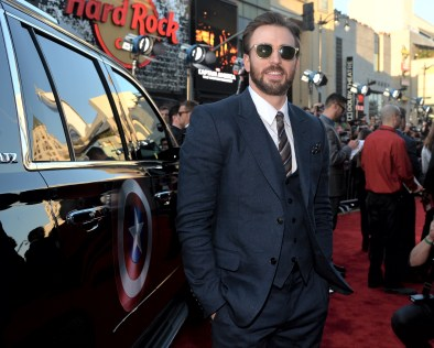 """Alberto E. Rodriguez/Getty Images Actor Chris Evans attends Marvel's """"Captain America: The Winter Soldier"""" premiere."""