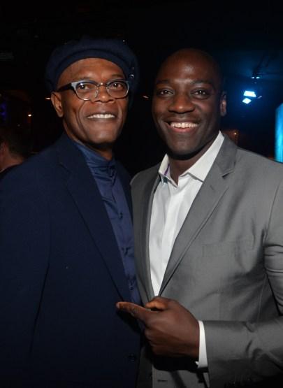 Alberto E. Rodriguez/Getty Images Actors Samuel L. Jackson and Adewale Akinnuoye-Agbaje