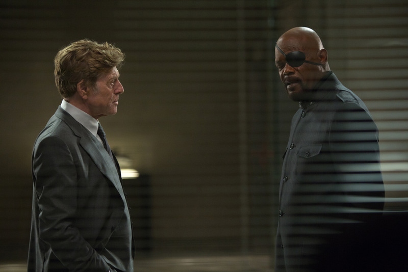 Zade Rosenthal/Marvel Alexander Pierce (Robert Redford) and Nick Fury (Samuel L. Jackson)