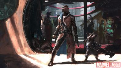 Guardians of the Galaxy concept Starlord and Rocket
