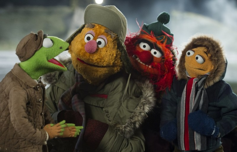 Jay Maidment/Disney Enterprises, Inc. Kermit the Frog, Fozzie Bear, Animal and Walter at the gulag.
