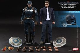 Hot Toys Captain America The Winter Soldier - Cap and Steve Rogers