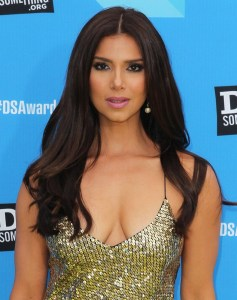 roselyn-sanchez-hot in shimmery dress