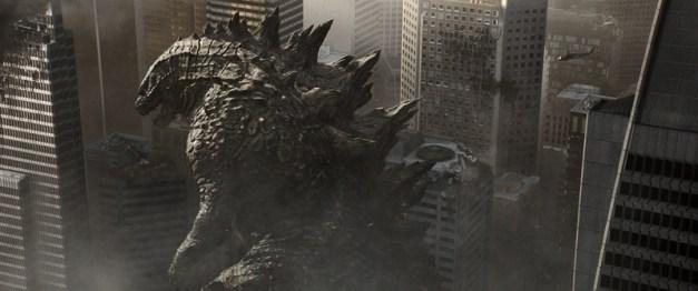 "Warner Bros. Pictures Godzilla marches in ""Godzilla."""