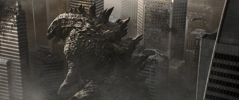 Godzilla - walking through the city