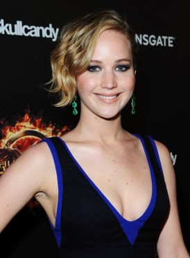 "David M/ Benett/Getty Images Jennifer Lawrence attends Lionsgate's ""The Hunger Games: Mockingjay Part 1"" party at a private villa."