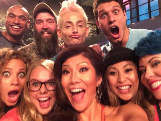 Julie Chen with Big Brother 16 selfie