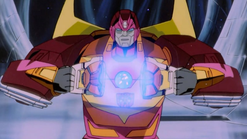 The Transformers The Movie - Hot Rod becoming Rodimus Prime