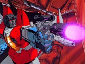 The Transformers The Movie - starscream shooting
