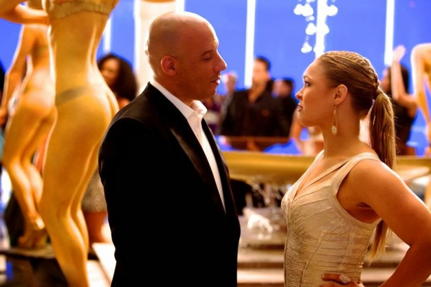 Fast and Furious 7 Vin Diesel and Rhonda Rousey
